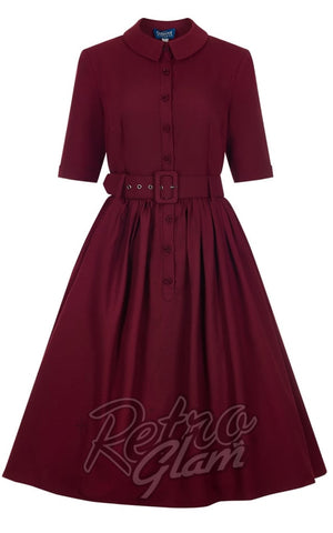 Collectif Aria Swing Dress in Wine