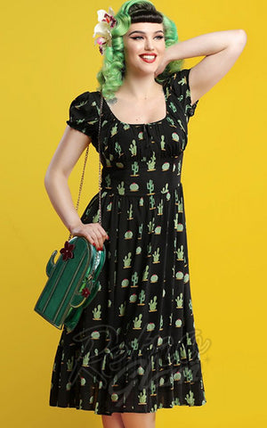 Collectif Carmen Cactus Swing Dress model