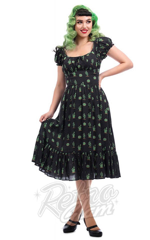 Collectif Carmen Cactus Swing Dress
