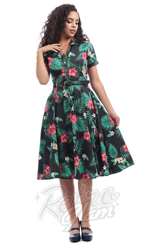 Collectif Caterina 50's Swing Dress in Tropical Paradise