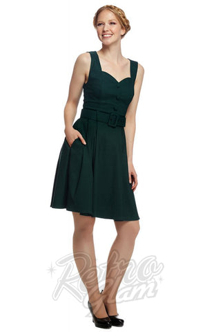 Collectif Enid Swing Dress in Green