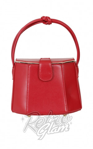 Collectif Felicity 50's Box Handbag in Red