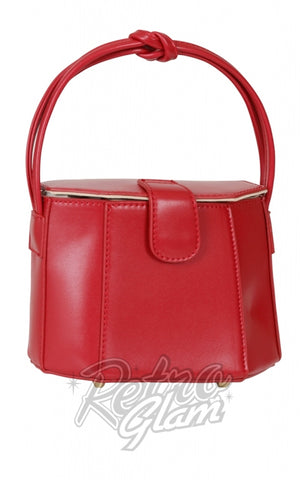 Collectif Felicity 50's Box Handbag in Red side