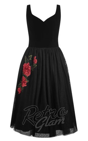 Collectif Isla Rose Swing Dress Detail