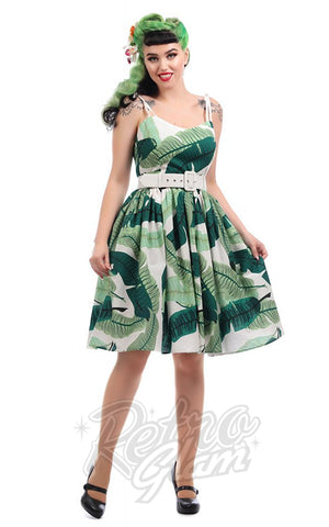 Collectif Jade Banana Leaf Swing Dress