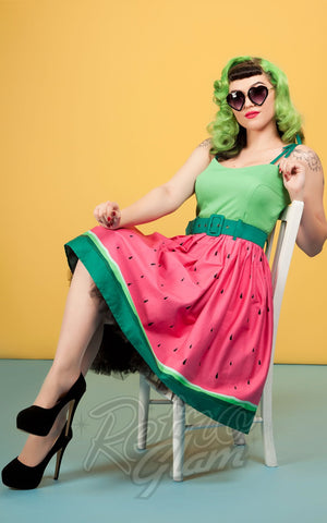 Collectif Jade Watermelon Swing Dress model