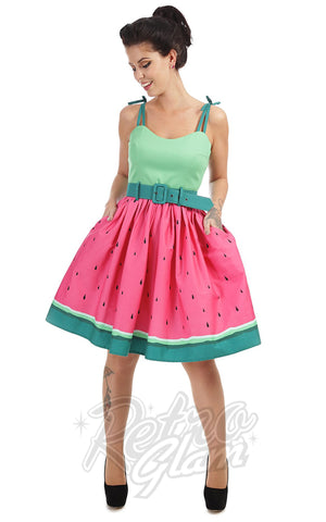 Collectif Jade Watermelon Swing Dress