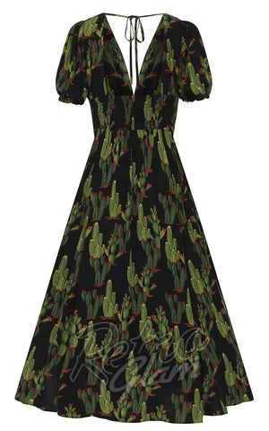Collectif Juilette Cactusland Maxi Dress back