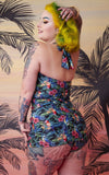 Collectif X Playful Promises Jungle Balcony Swimsuit curvy back