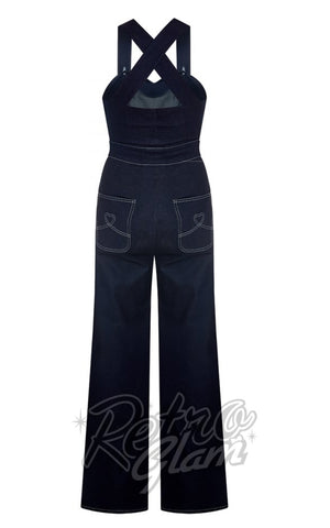 Collectif Karla Heart Dungarees back
