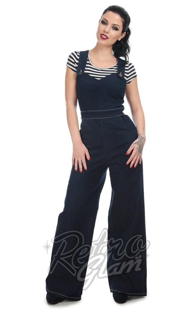 Collectif Karla Heart Dungarees