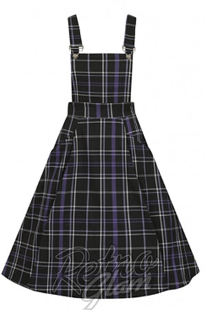 Collectif Kayden Overalls Swing Dress in Nancy Check Plaid