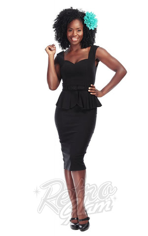 Collectif Vintage Mae Pencil Dress in Black