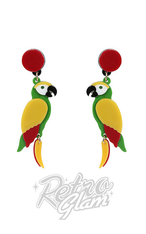 Collectif Porsha Parrots Earrings