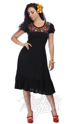 Collectif RaeLyn Swing Dress with Embroidery