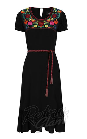 Collectif RaeLyn Swing Dress with Embroidery detail