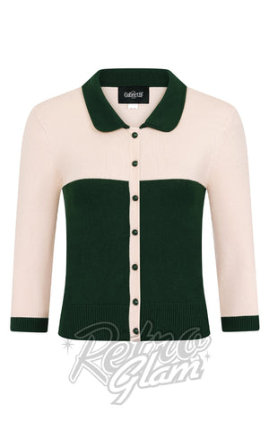 Collectif Sandy Jane Bowling Cardigan front