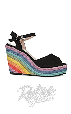 Lulu Hun Sue Rainbow Wedge Shoes