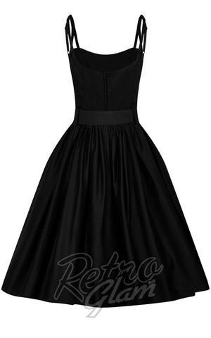 Collectif Vintage Jade Black Swing Dress front
