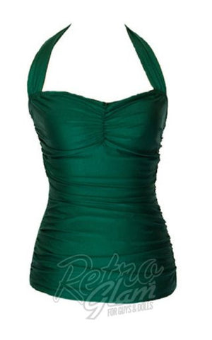 Esther Williams Classic Sheath Swimsuit in Green