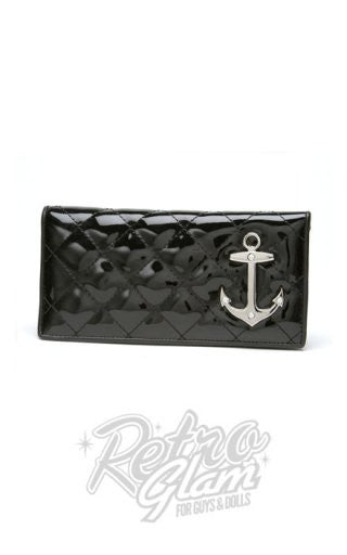Lux de Ville Bon Voyage Wallet in Black Shiny