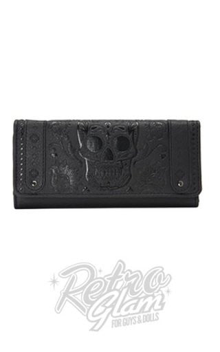 Loungefly Black Sugar Skull Embossed Wallet