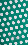 Hell Bunny Mariam 50s Polka Dot Dress in Green