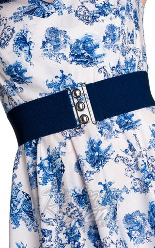 Hell Bunny Retro Belt in Navy