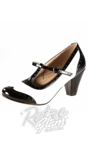 Chelsea Crew Molly Heel in Black and White
