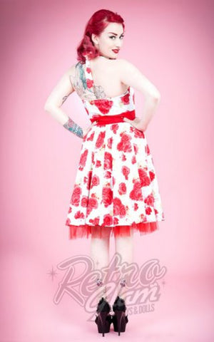 Hearts and Roses Rosie Halter Cocktail Dress