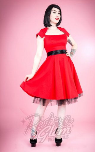 Hearts and Roses Sweet Virginia Cocktail Dress in Red