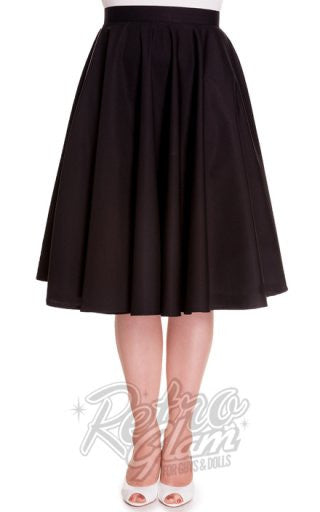 Hell Bunny Paula 50s Skirt in Black