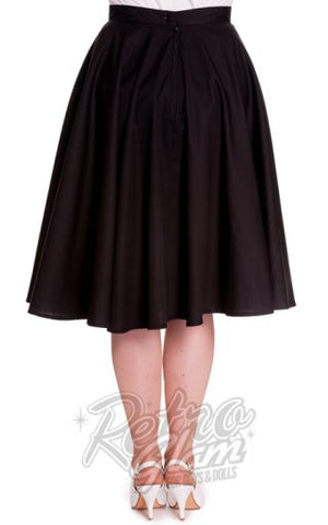 Hell Bunny Paula 50s Circle Skirt in Black