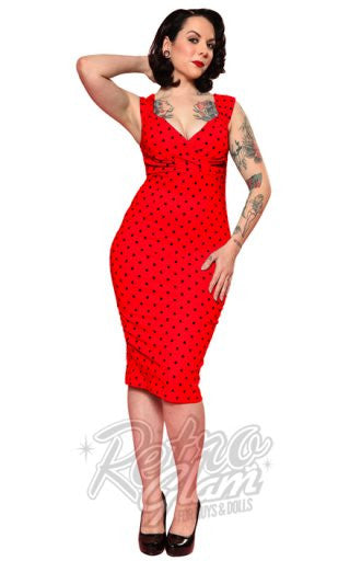 Steady Clothing Diva Dress in Red Polka Dot