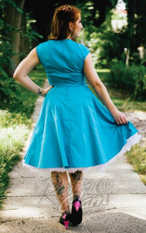 PinUp Couture Heidi Swing Dress in Bright Blue
