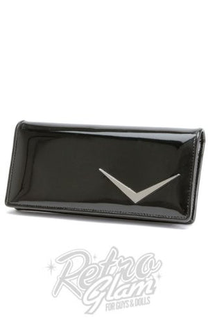 Lux de Ville Getaway Wallet in Shiny Black