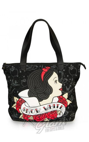 Loungefly Disney Snow White Tattoo Flash Black Tote