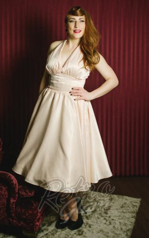 Pinup Couture Blush Halter Dress