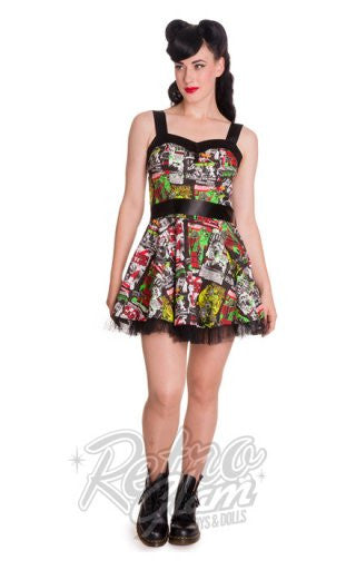 Hell Bunny B-Movie Mini Dress