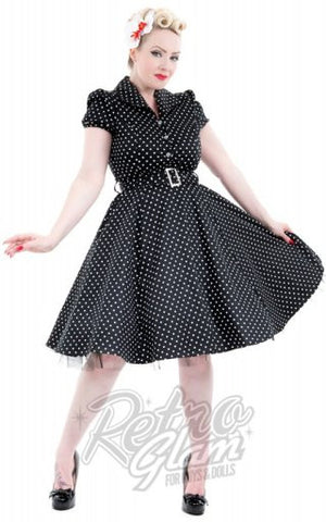 Hearts and Roses Elna Dress in Black