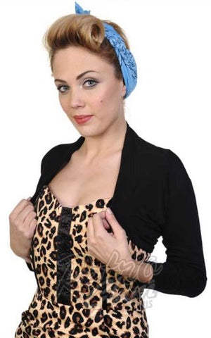 Banned Rockabilly Roxie Bolero in Black