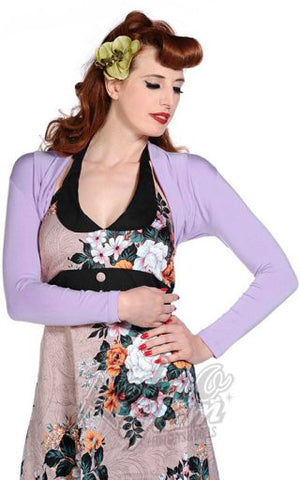 Banned Rockabilly Roxie Bolero in Lavender