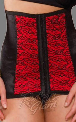 Rago Medium Shaping Cincher in Red and Black