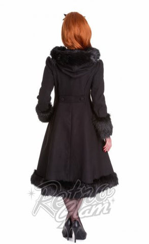 Hell Bunny Elvira Coat in Black Back