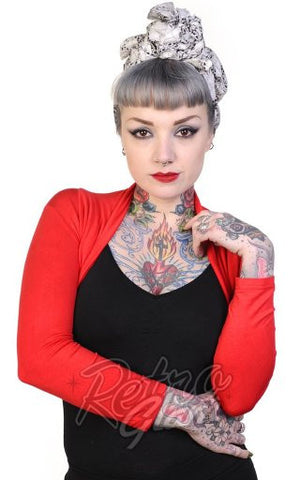 Banned Rockabilly Roxie Bolero in Red
