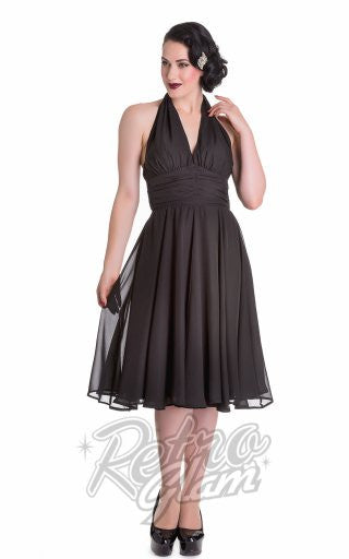 Hell Bunny Monroe Dress in Black