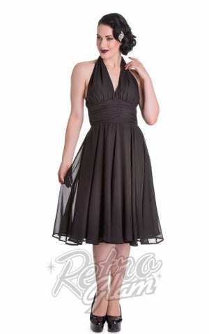 Hell Bunny Marilyn Monroe Dress in Black