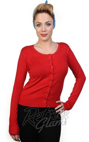 Banned Getaway Cardigan in Red