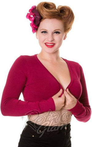 Banned Flickers Bolero in Burgundy