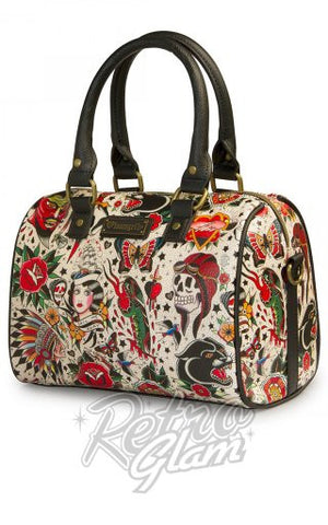 Loungefly Classic Tattoo Printed Pebble Duffle front